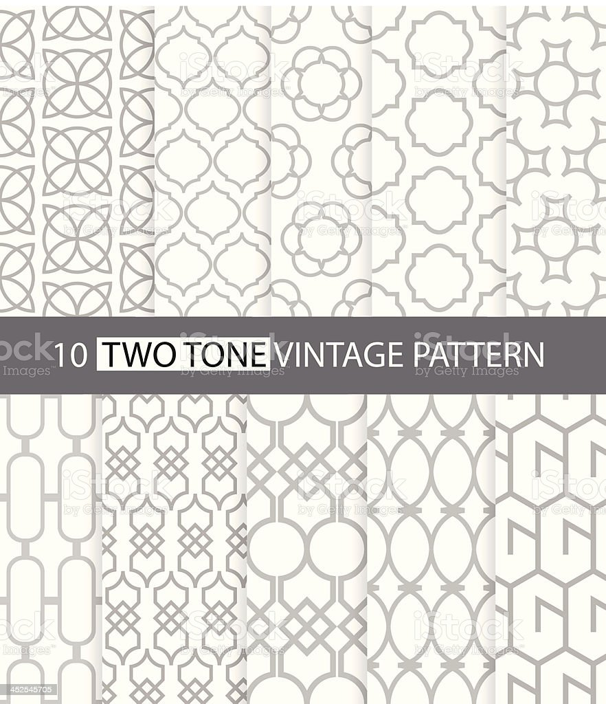 Two tone vintage style seamless pattern royalty-free two tone vintage style seamless pattern stock vector art & more images of abstract