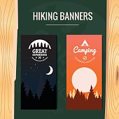 Two Tourism hiking vertical banners