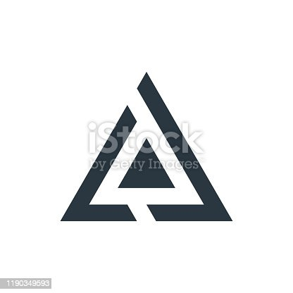 Two Triangle tech business logo design template. Stock Vector illustration isolated
