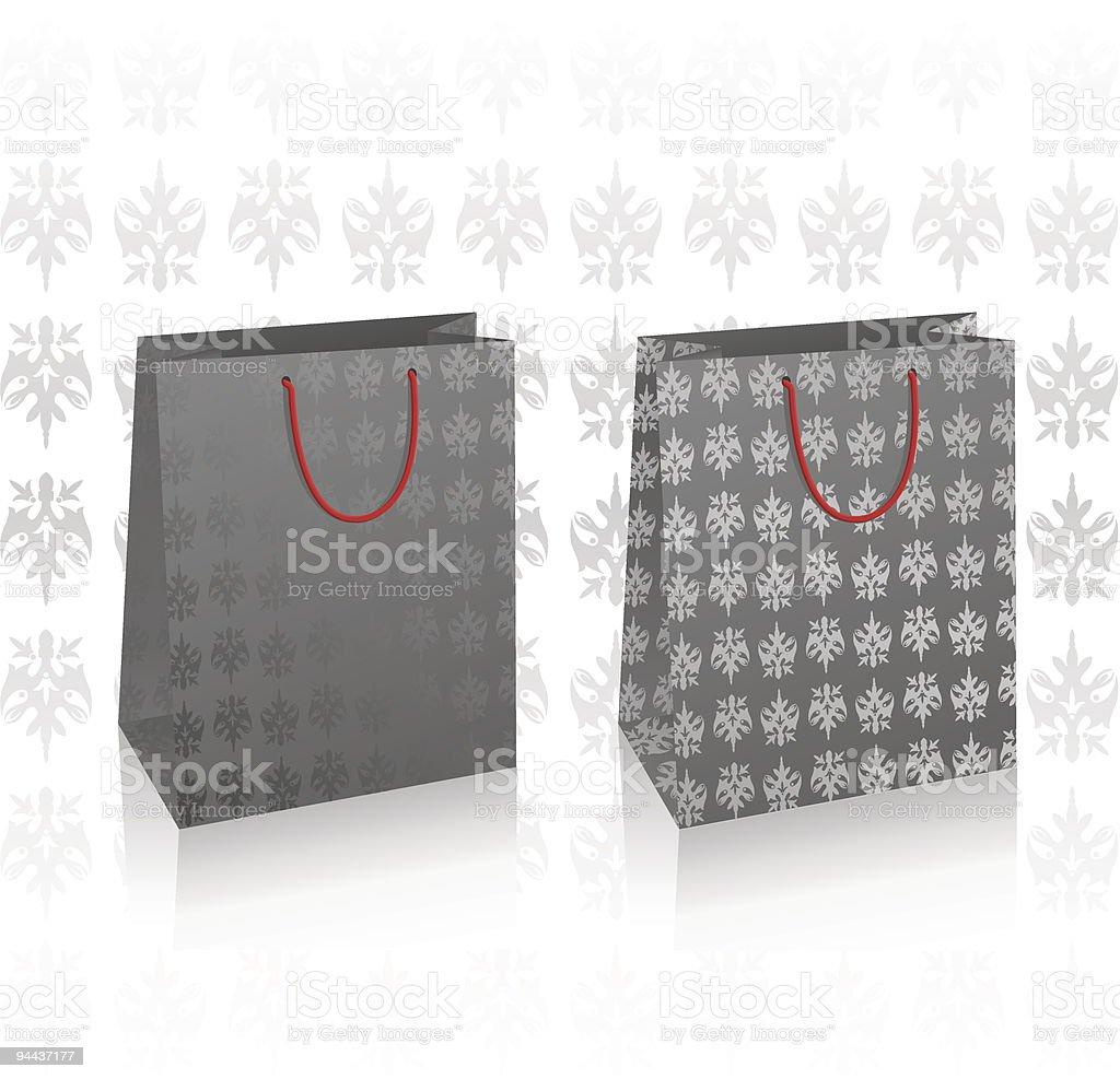 Two vector black royal bags royalty-free stock vector art
