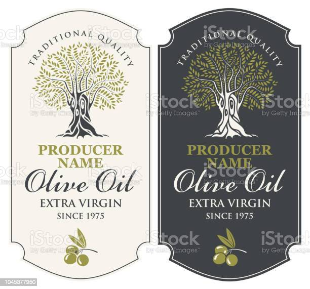 Two vector labels for olive oil with an olive tree vector id1045377950?b=1&k=6&m=1045377950&s=612x612&h=dntrhsebsf97zr13njnisomjoxu  s cfrgnjo9p2hs=