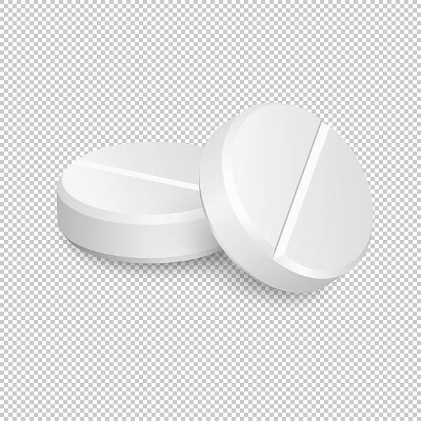 Two vector realistic medical pill icons. Two vector realistic medical pill icons. Vector EPS10 illustration aspirin stock illustrations