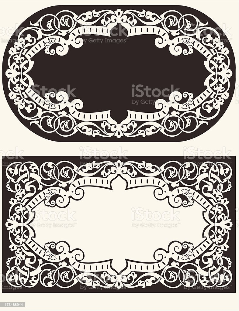 Two Vintage Ornate Frames Background royalty-free stock vector art