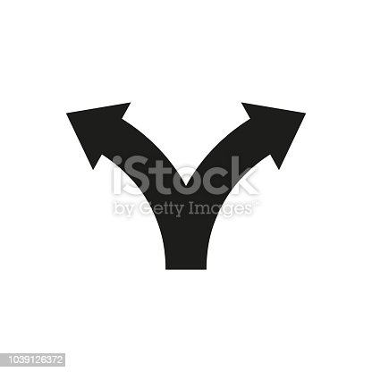 istock Two way direction arrows. Vector icon 1039126372