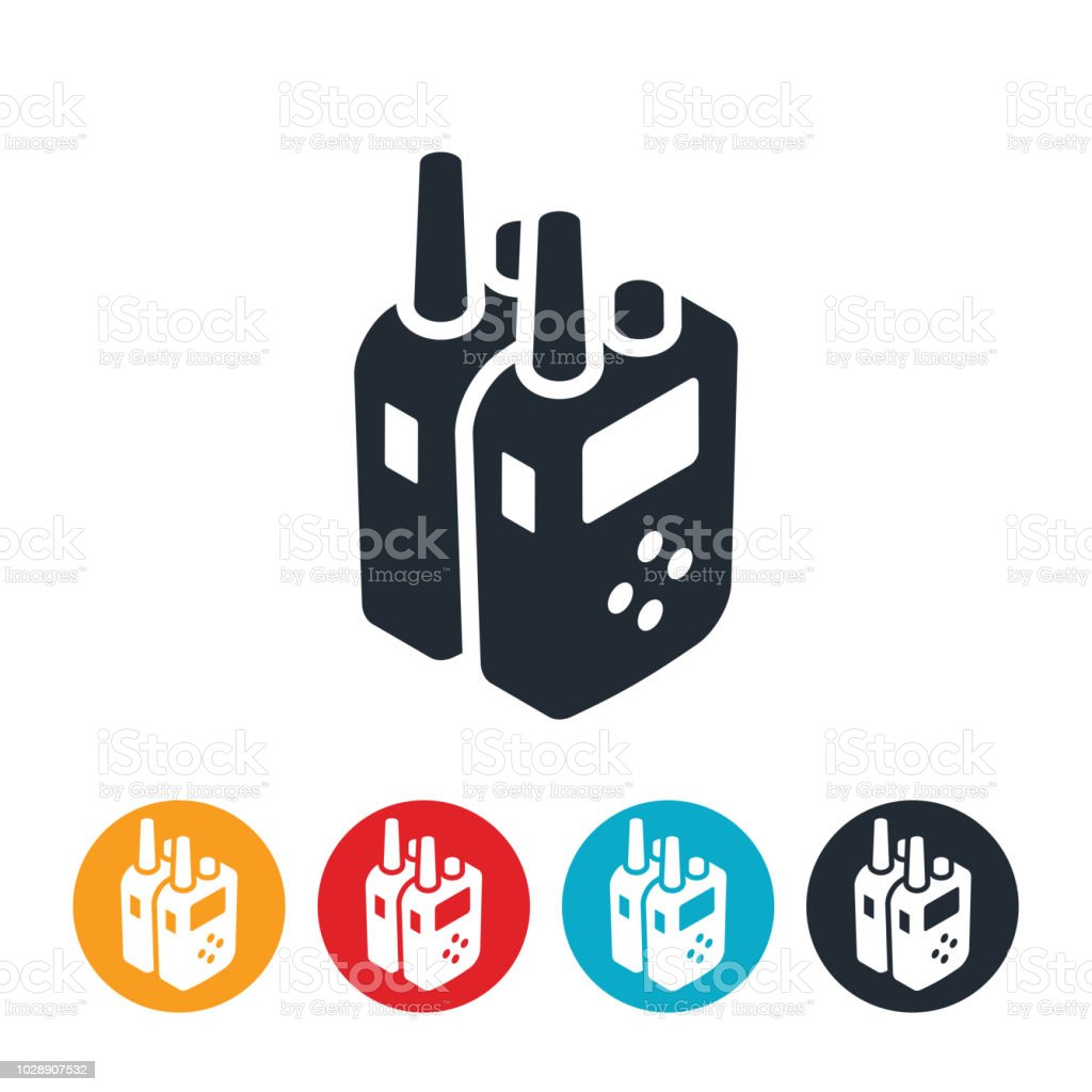 Two Way Radios Icon vector art illustration
