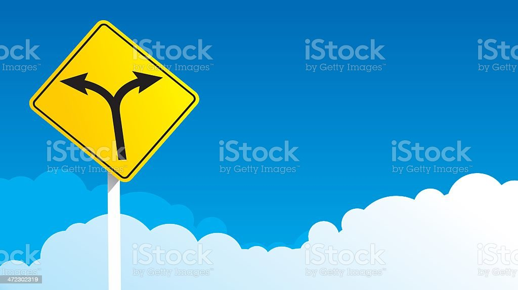 Two way traffic sign royalty-free stock vector art