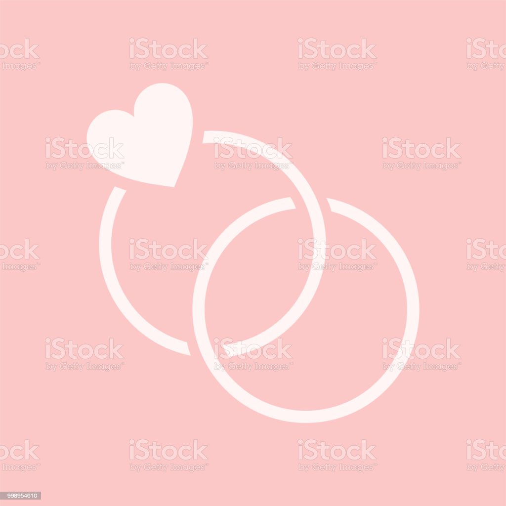 Two Wedding Rings Graphic Illustration Stock Vector Art & More ...