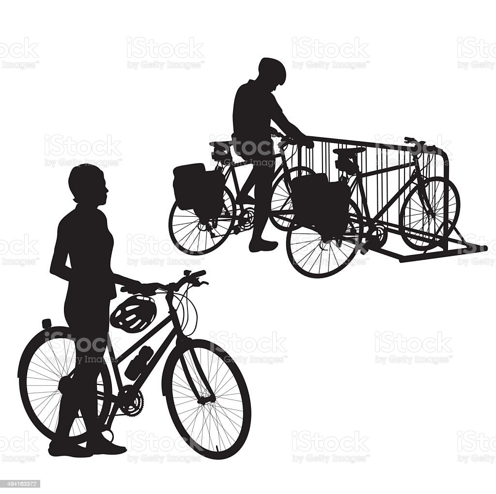 Two Wheeling vector art illustration