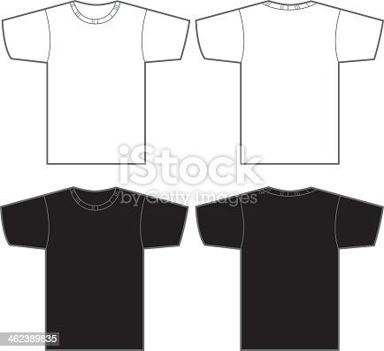 istock Two white and two black t-shirts 462389835
