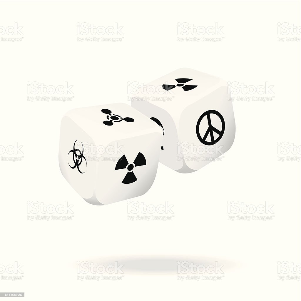 Two white dice of war royalty-free two white dice of war stock vector art & more images of addiction