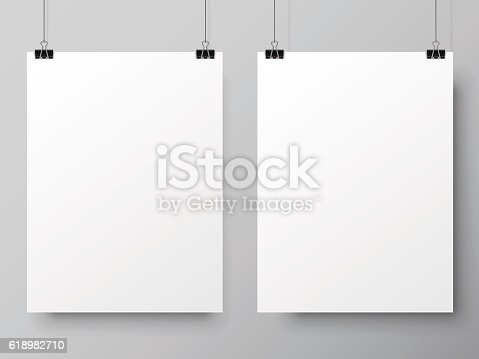istock Two White Poster Templates 618982710