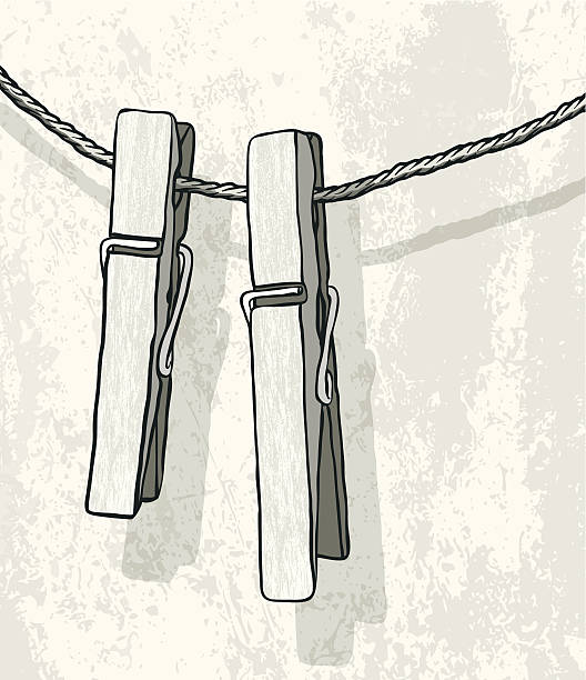 Best Clothespin Illustrations, Royalty-Free Vector ...