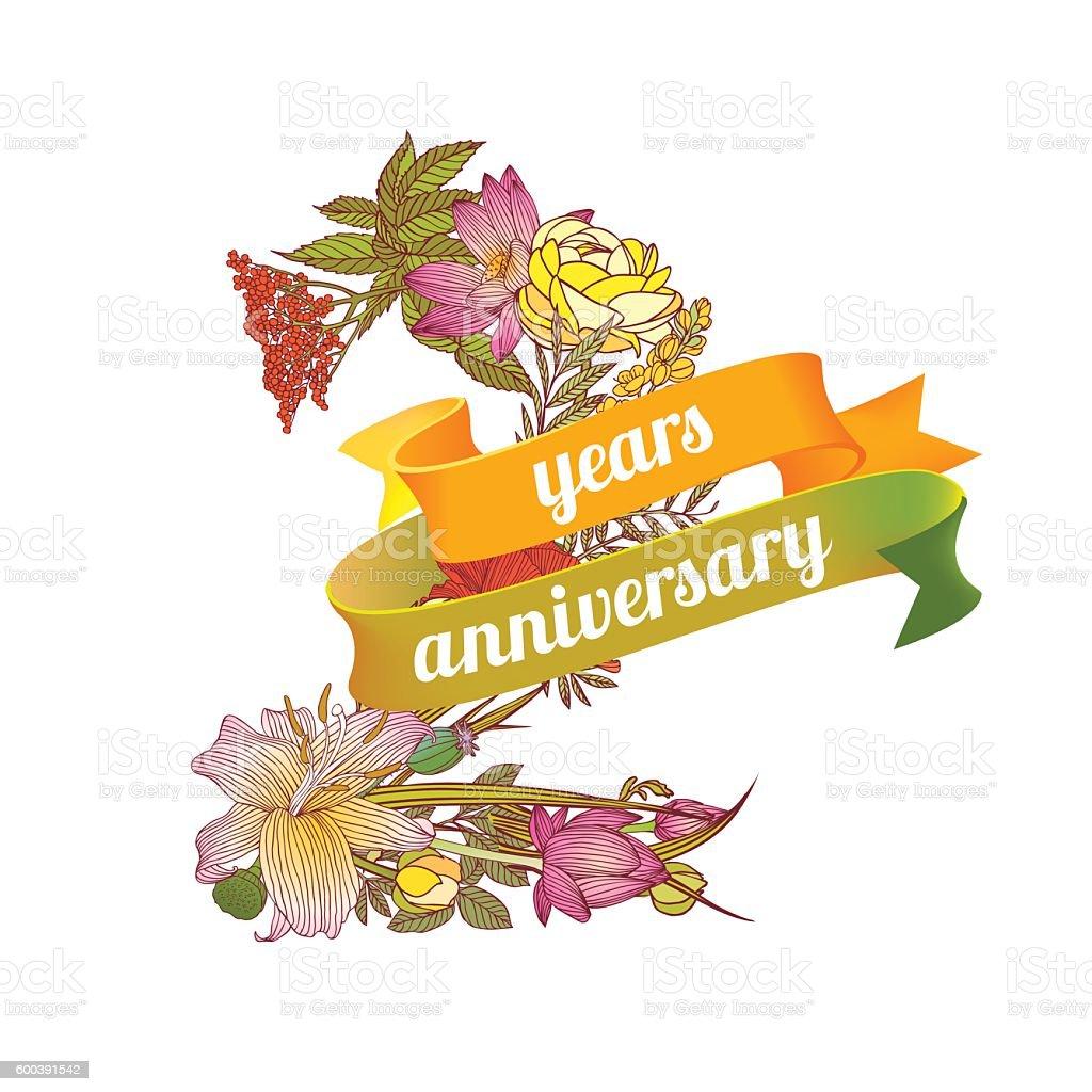 two years anniversary お祝いのベクターアート素材や画像を多数ご用意