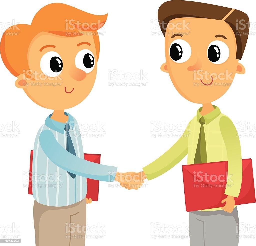 royalty free fun handshake clip art vector images illustrations rh istockphoto com friends shaking hands clipart shaking hands clipart black and white