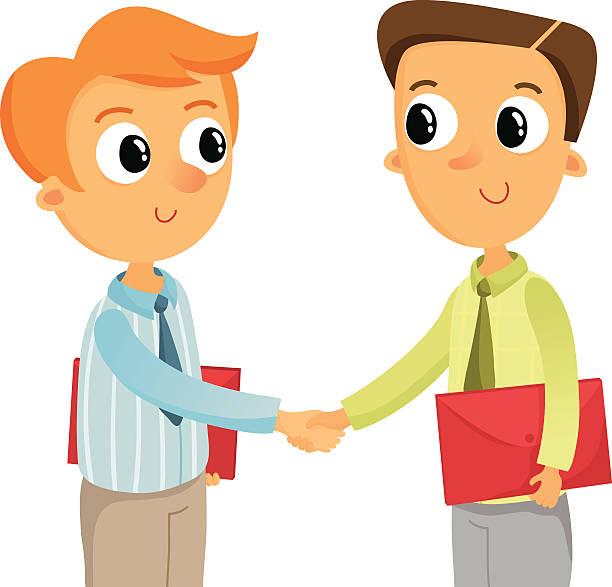 Royalty Free Fun Handshake Clip Art, Vector Images ...  Kids
