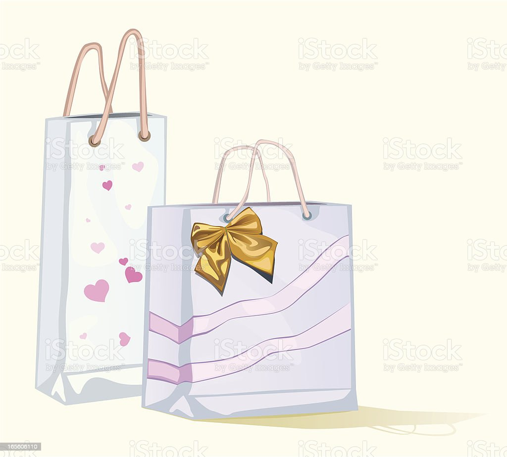 Two-shopping-bags royalty-free stock vector art