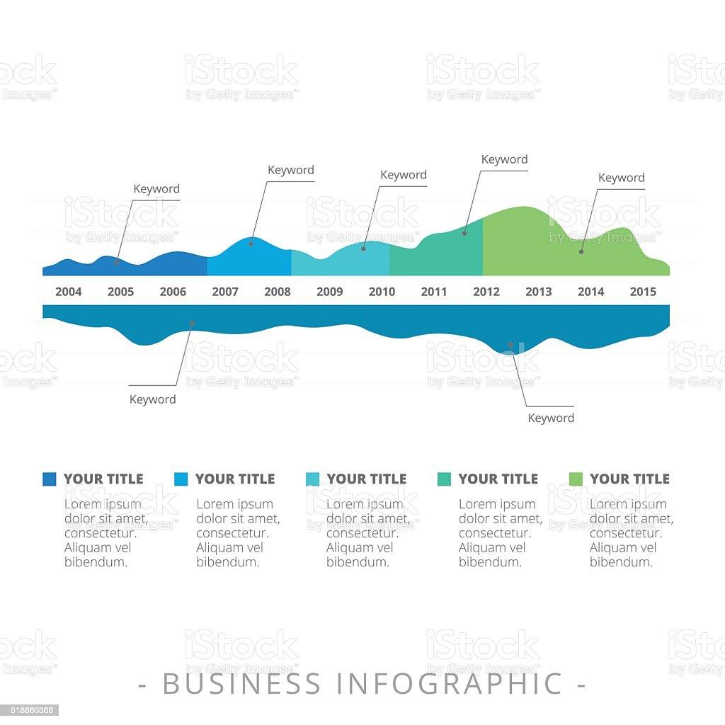 Zweiseitiger Berg Daten Diagramm Stock Vektor Art und mehr Bilder ...