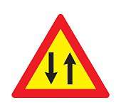 Two-way traffic sign.