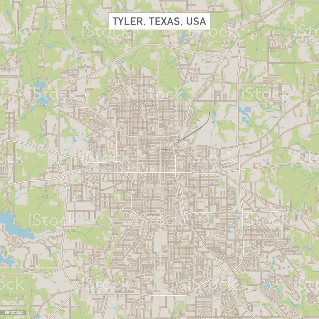 Tyler Texas Us City Street Map Stock Vector Art & More Images of ...