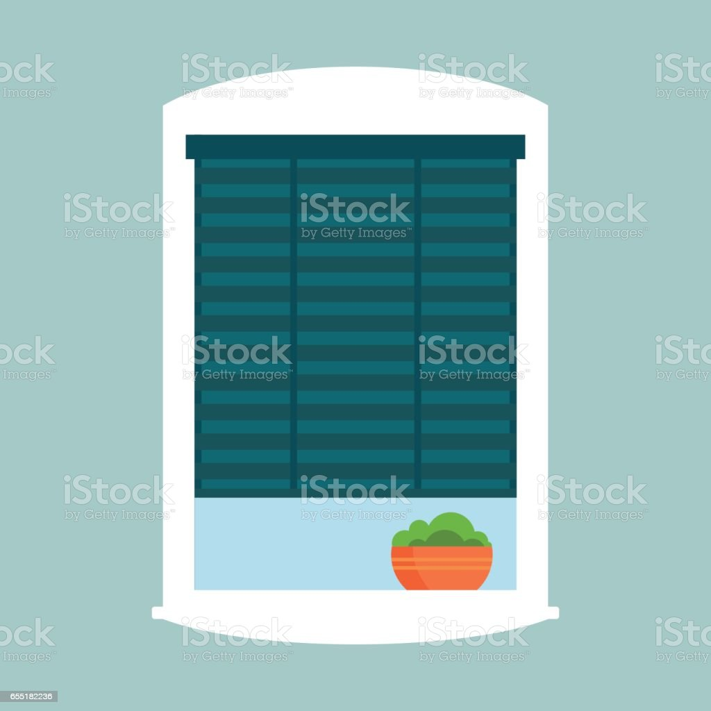 Type Of House Windows Jalousie Element Isolated Flat Style Frame Domestic  Door Double Construction And Contemporary