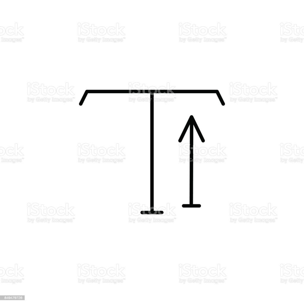 type tool up arrow icon vector art illustration