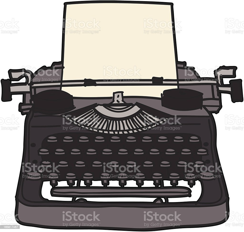 Type Writer royalty-free stock vector art