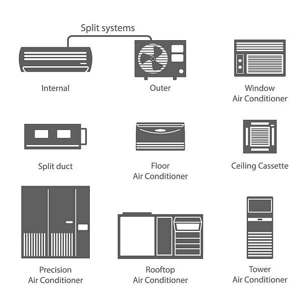 タイプのエアコンのアイコンを設定します。 - エアコン点のイラスト素材/クリップアート素材/マンガ素材/アイコン素材