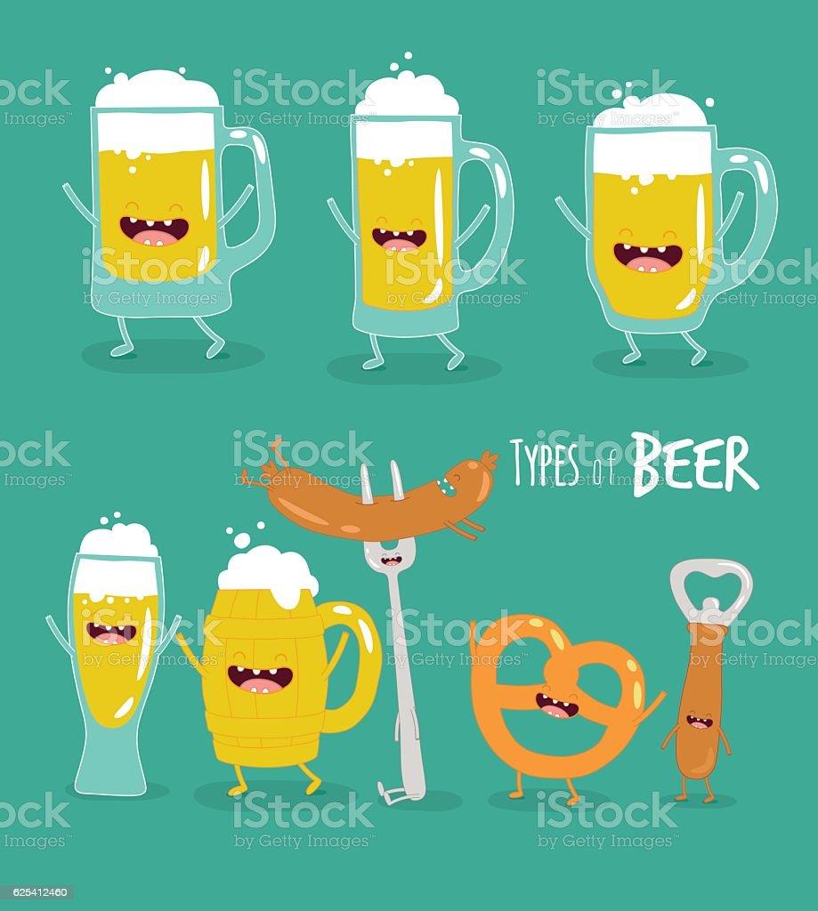 types of beer – Vektorgrafik