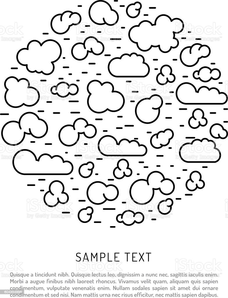 types of clouds the atmosphere vector art illustration
