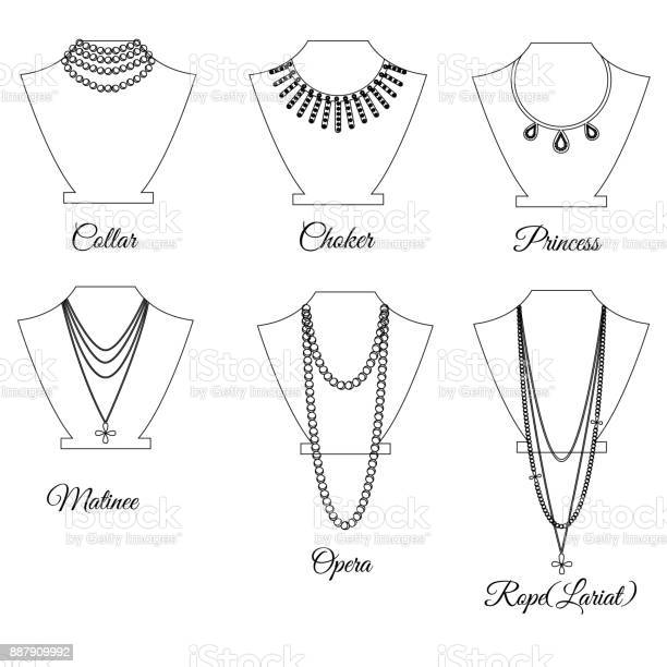 Types of necklaces by length outline vector id887909992?b=1&k=6&m=887909992&s=612x612&h=w8x6xwb3krv7lyw4u ela51r8fapyddbxavxbi 9ep0=