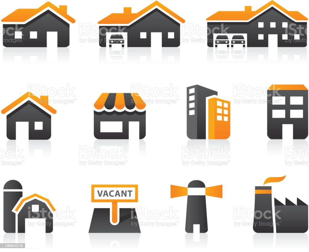 Types of Real Estate vector art illustration