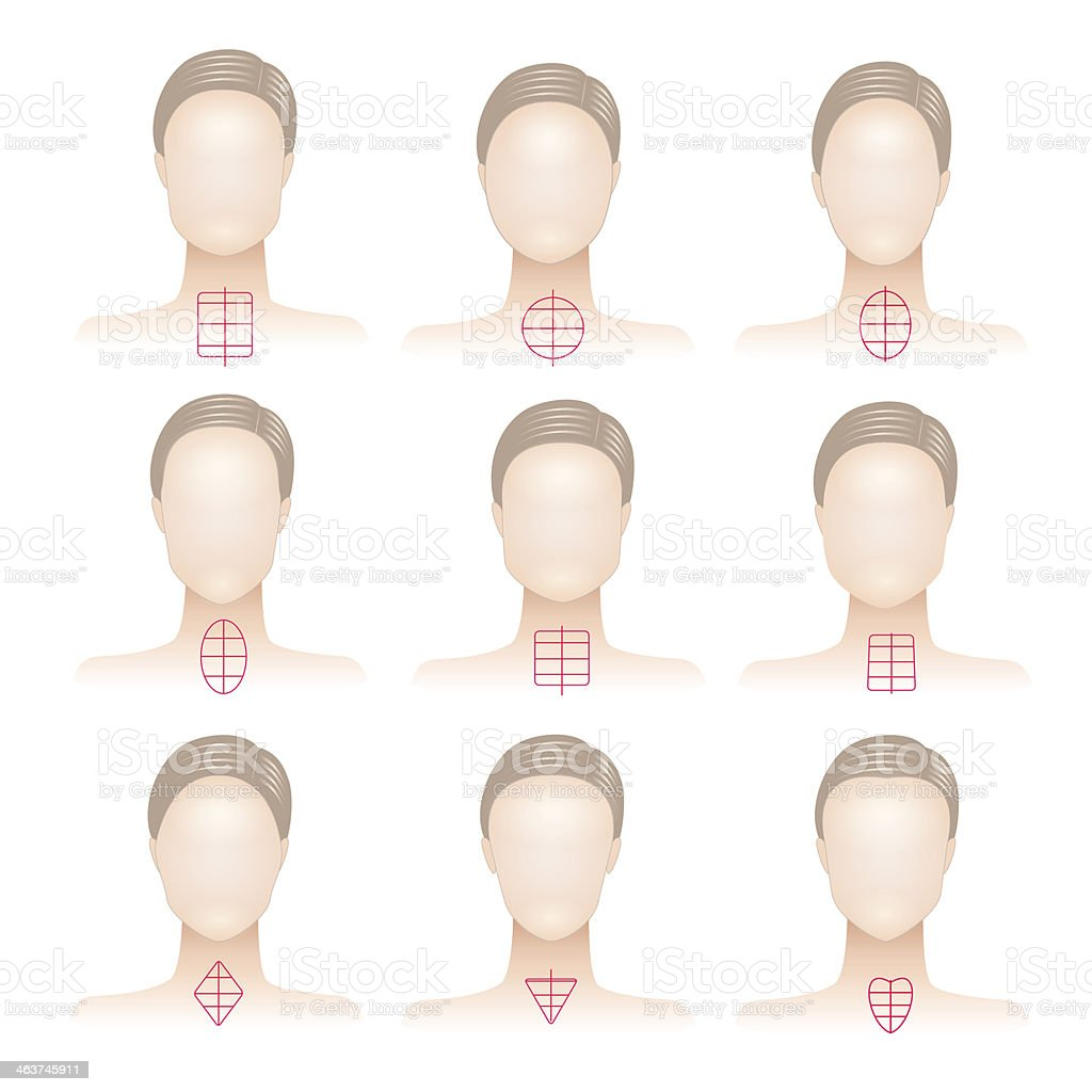 Types of woman face royalty-free stock vector art
