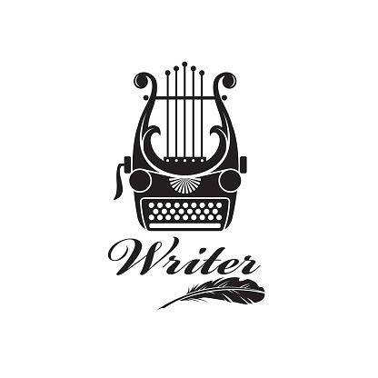 typewriter and lyre