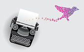 typewriter creative design