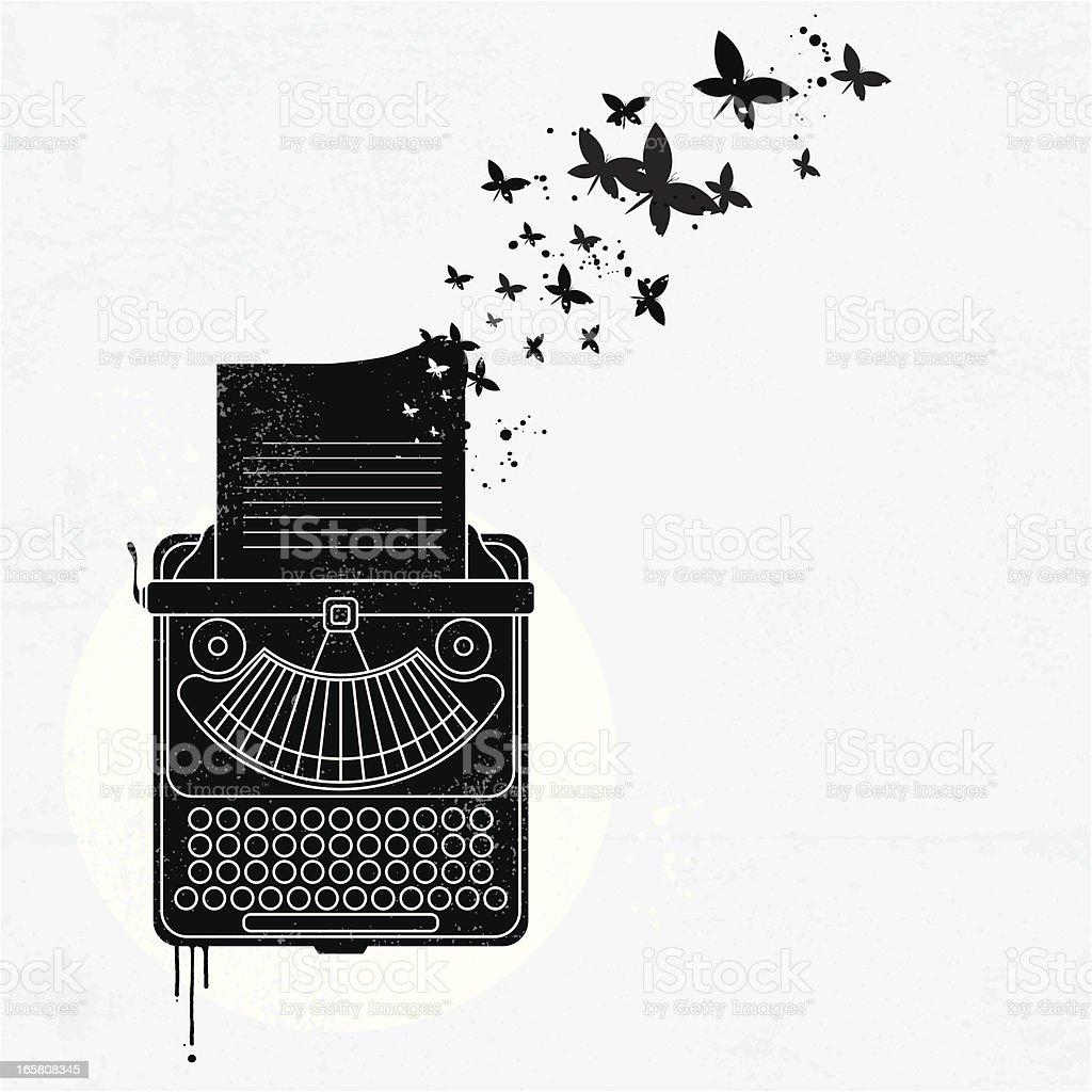 Schreibmaschine graffiti – Vektorgrafik