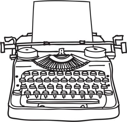 Typewriter Line Drawing