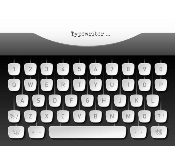 Best Typewriter Keyboard Illustrations, Royalty-Free Vector
