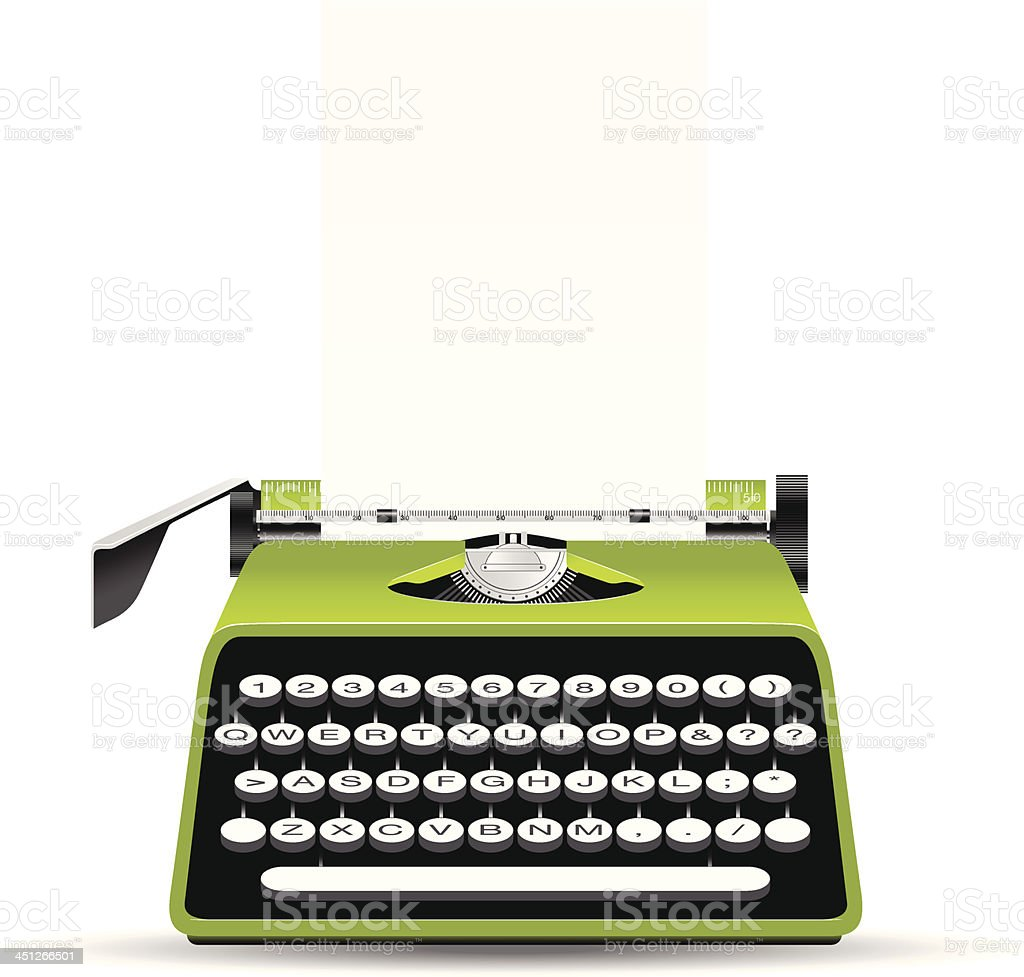 Typewriter royalty-free typewriter stock vector art & more images of arts culture and entertainment