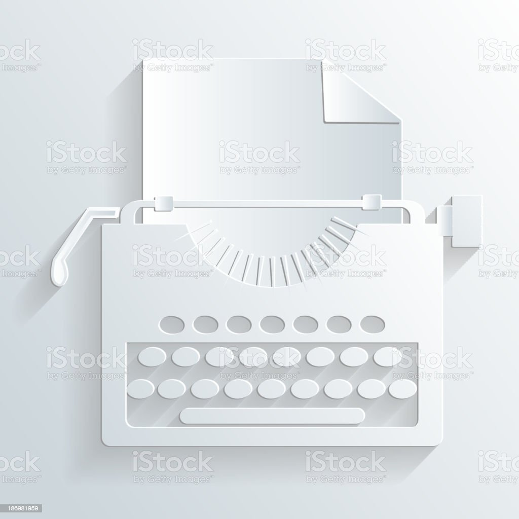 typewriter vector royalty-free typewriter vector stock vector art & more images of artist