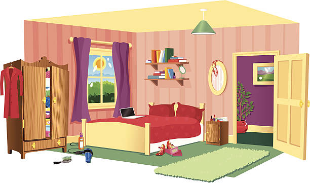 Best Bedroom Illustrations, Royalty-Free Vector Graphics