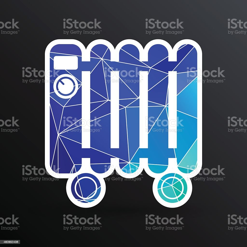Typical Heater Filled Radiator Icon Symbol Electric Stock Vector Art Common Electrical Symbols Royalty Free