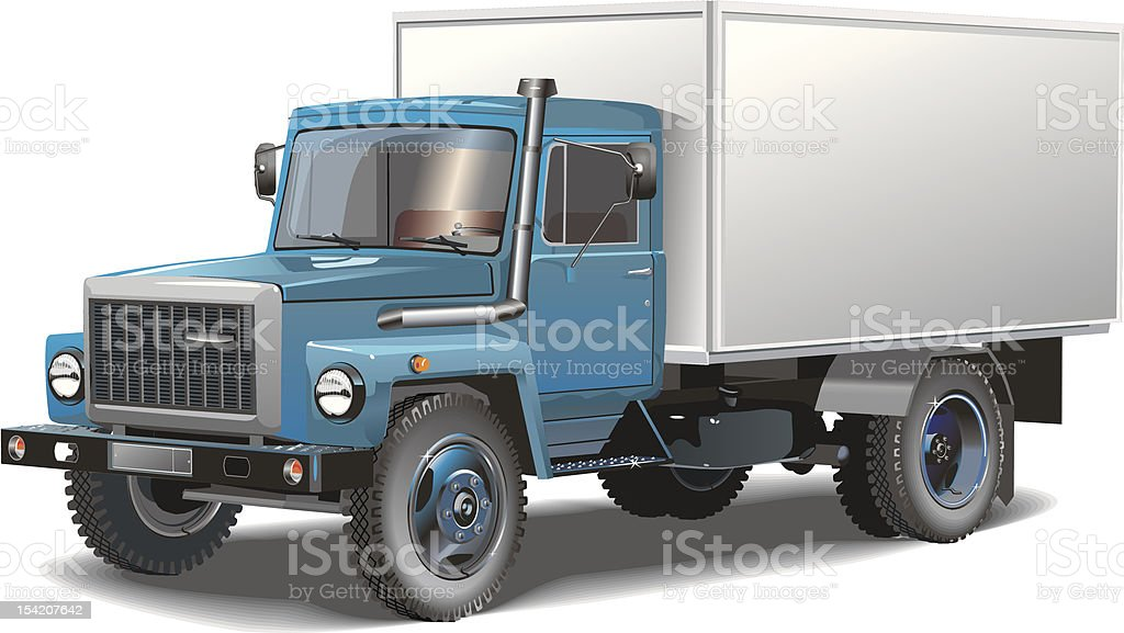 Typical truck vector art illustration
