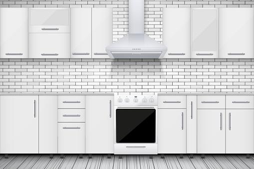 Typical White kitchen