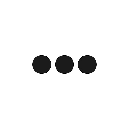 Typing text chat isolated vector icon. Modern geometric illustration. Three dots for your design. Discussion forum.