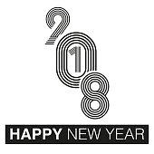 HAPPY NEW YEAR, typographic arrangement