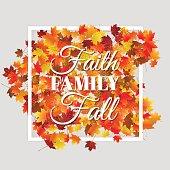 Typographic autumn season background