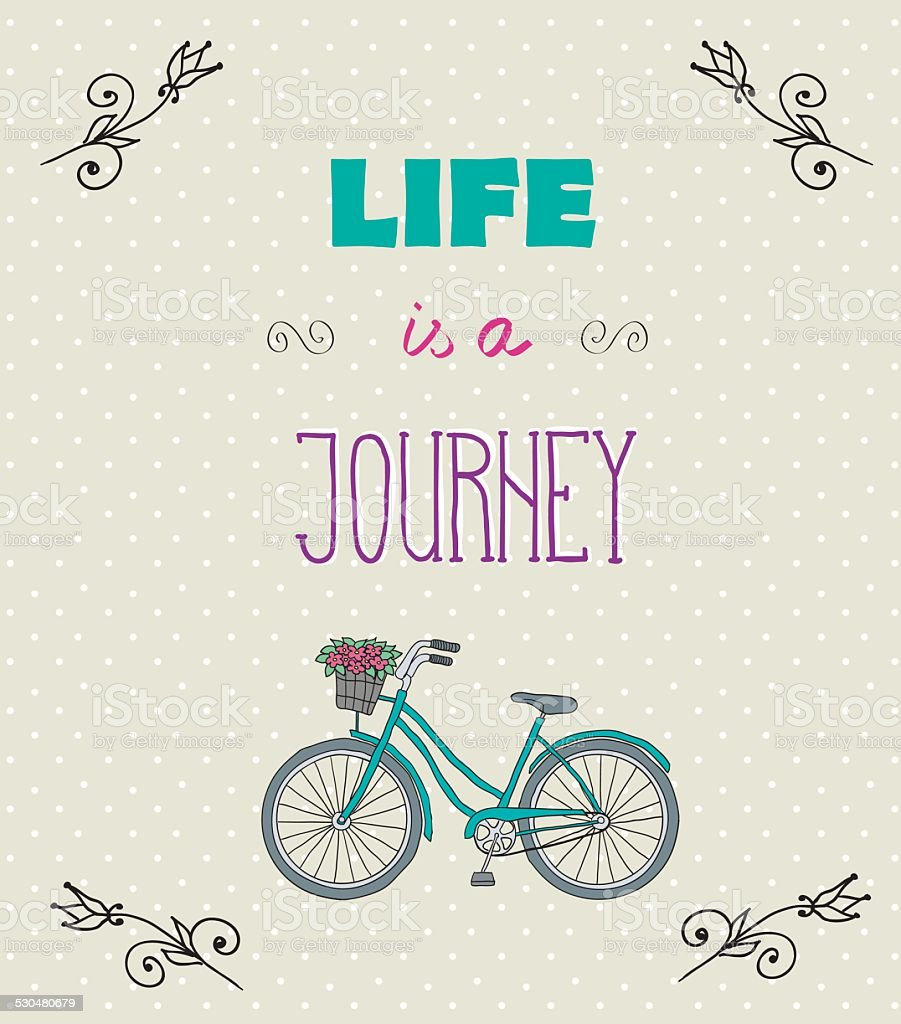 Typographic Background With Motivational Quotes Life Is A Jorney