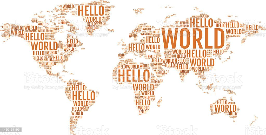 Typographic hello world map vector stock vector art more images of typographic hello world map vector royalty free typographic hello world map vector stock vector gumiabroncs Images