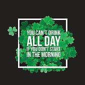 Typographic Saint Patrick's Day background