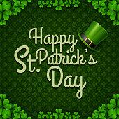 Illustration of Typographic Saint Patrick's Day Retro Background